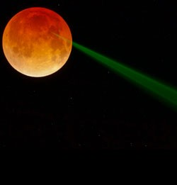 April 2014 Lunar Eclipse Laser Ranging